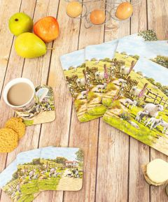 Collie and Sheep Set of 4 Coasters