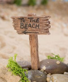 Miniature To The Beach Sign