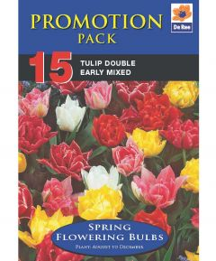 Tulip Double Mixed - 15 Pack
