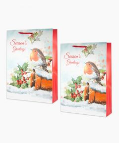 Robin Gift Bags - Extra Large Pack of 2