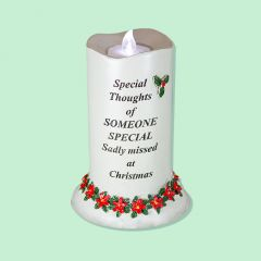 Poinsettia Candle with Tealight