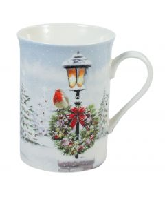 Christmas Robins Mug Set of 2