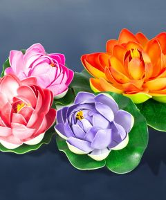 Floating Flower Lily Pads Set of 4