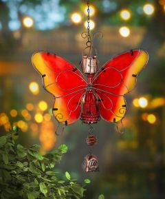 Solar Hanging Butterfly Bell