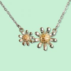 Necklace - Double Daisy