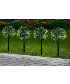 Solar Topiary Ball Stakes - Set of 6