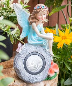 Fairy on Rock Solar Light