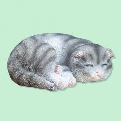 Sleeping Grey Kitten Ornament