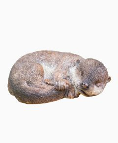 Sleeping Otter Baby Ornament