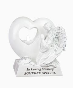 Angel MemorialHeart with LED - Someone Special