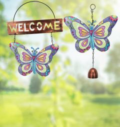Hanging Butterfly Set (Welcome & Bells) Set of 2