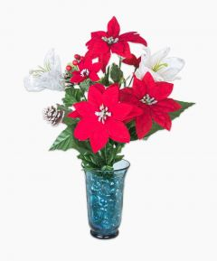 Xmas Mixed Bouquet with Glitter