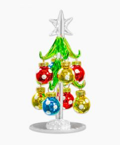Glass Christmas Tree with Baubles